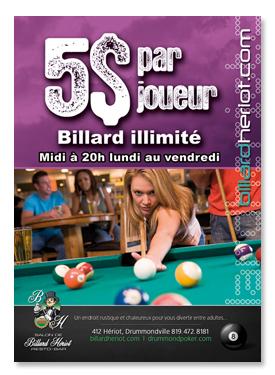 Salon de Billard Hériot - Promo